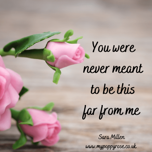 Quote: You were never meant to be this far from me.
