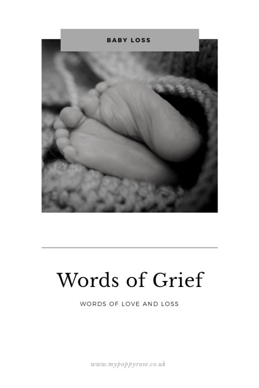 Page description: Words of grief