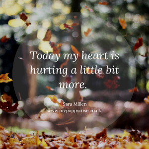 Baby loss Quote: Today my heart is hurting a little bit more.