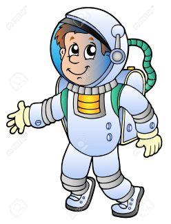 8528698-Astronauta-Cartoon-su-sfondo-bianco-illustrazione-vettoriale--Archivio-Fotografico