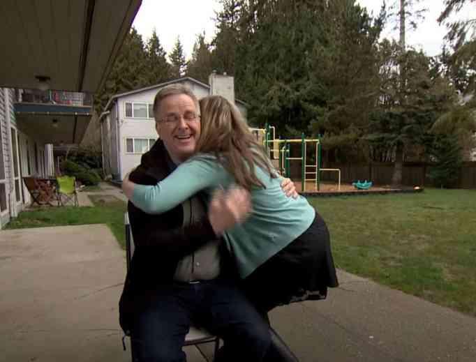Rick steves gets a hug.