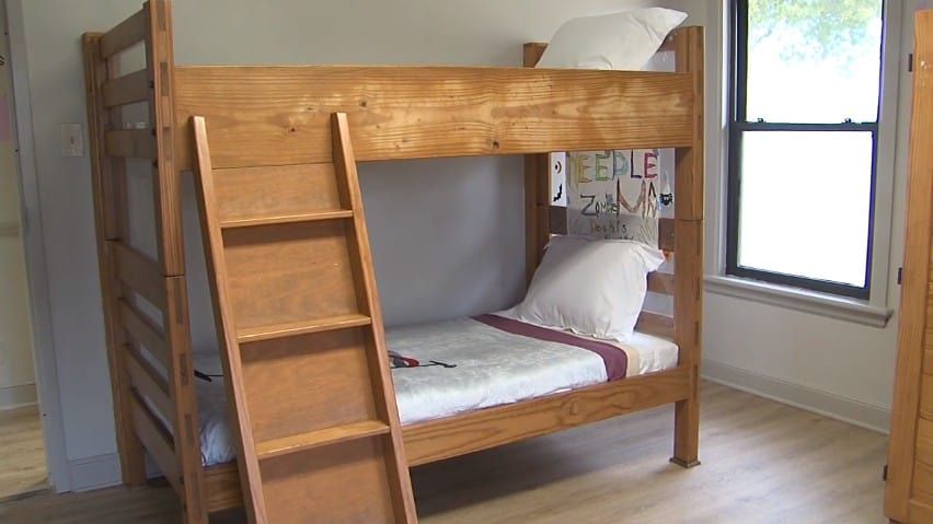 A double-deck bed in Janie's House