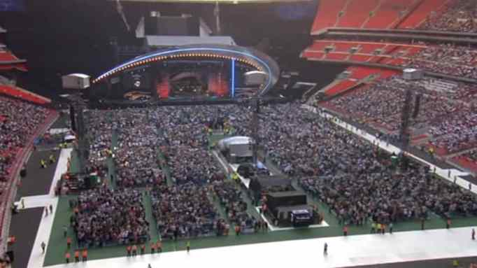 The audience at the Wembley Stadium