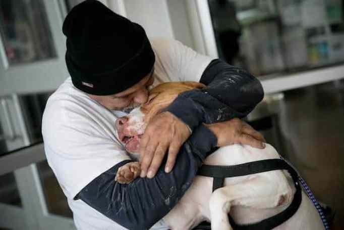 Lewis hugging Titus