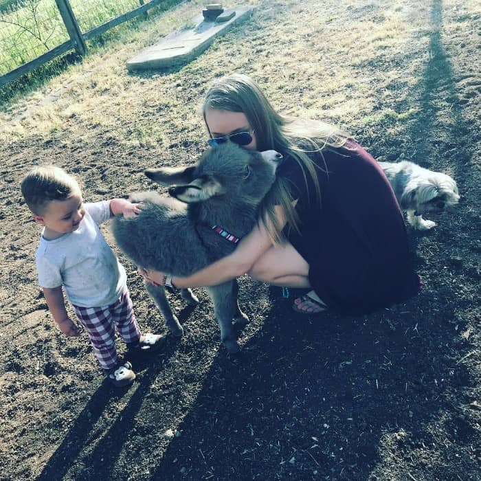 Payton with Jack the donkey