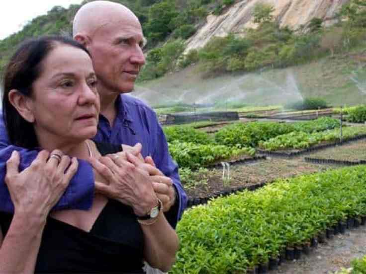 Sebastião Salgado with his wife Leila