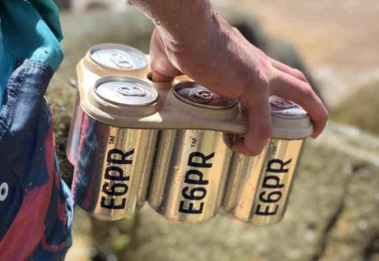 Beers in edible plastic rings