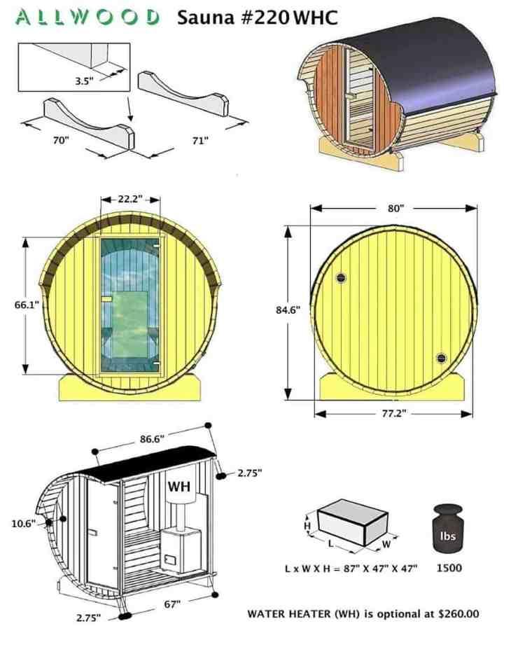 Mini sauna.