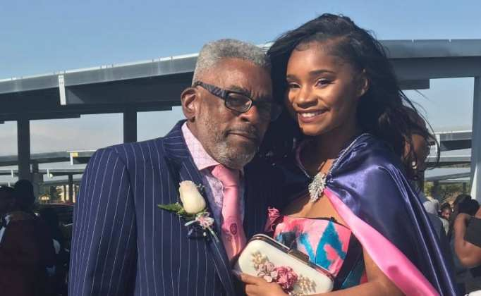 Kaylah with her granddad