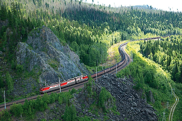 Railroad in Krasnoyarsk region
