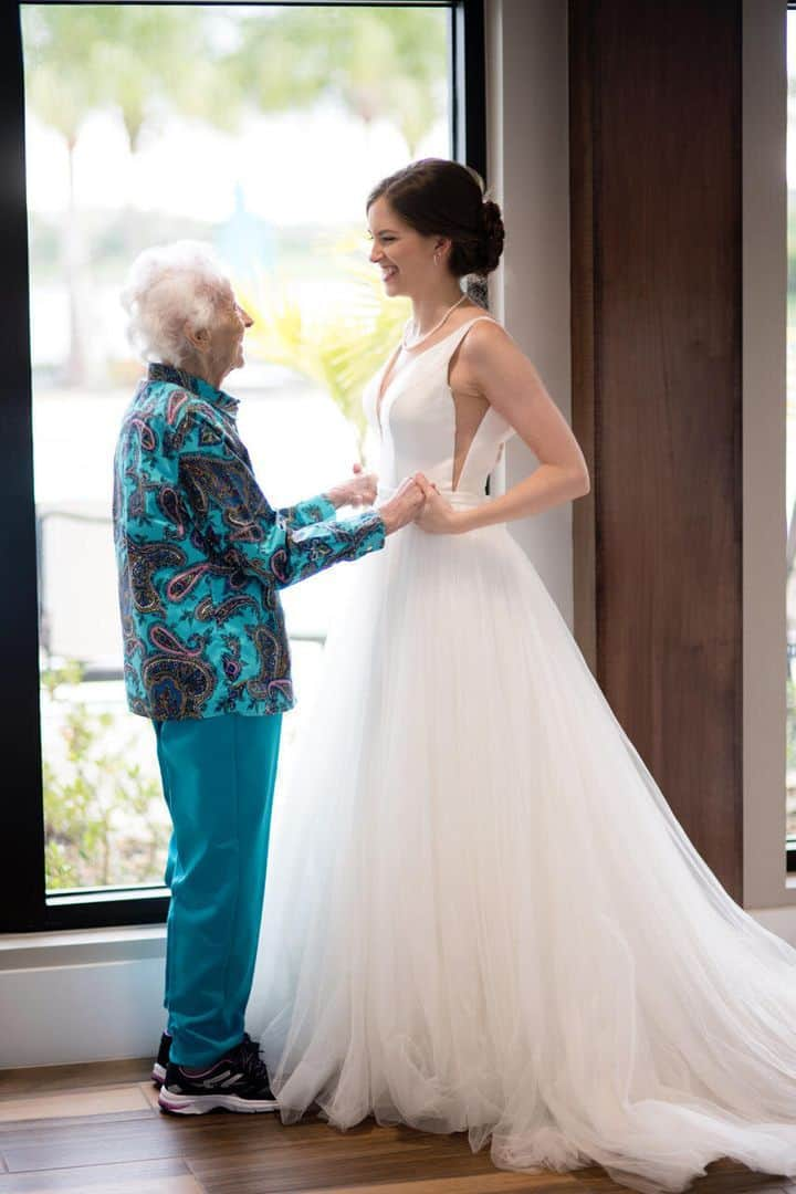 Nana couldn't fly to her wedding.
