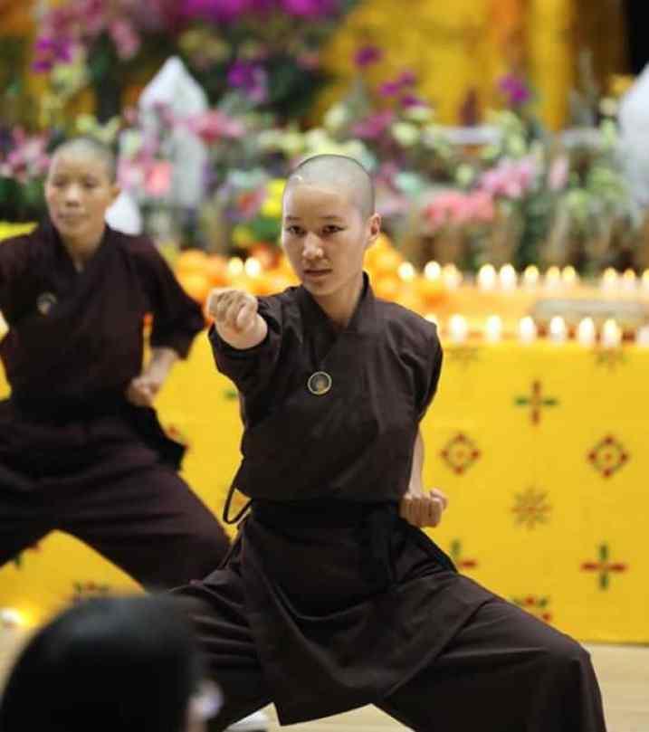 kung fu nuns practicing