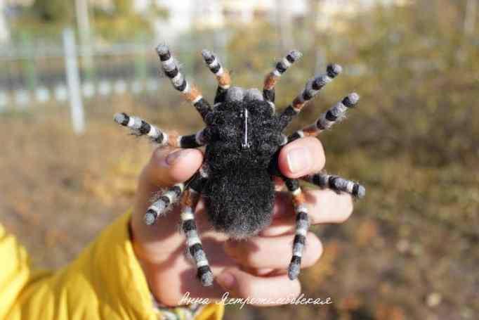 Felted spider