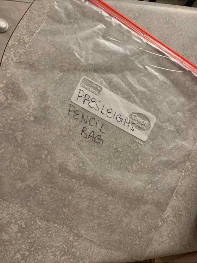 Haley's pencil bag