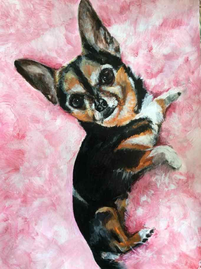 Proceeds from his artworks are used in helping animals.