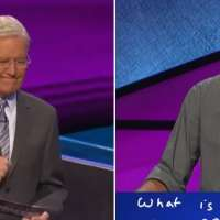 Alex Trebek chokes up when contestant honors him with his final answer