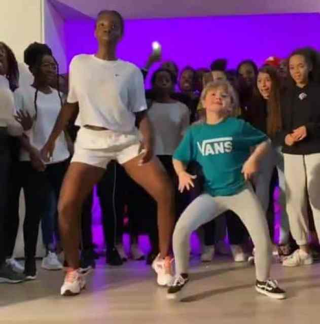 The duo's viral dance video