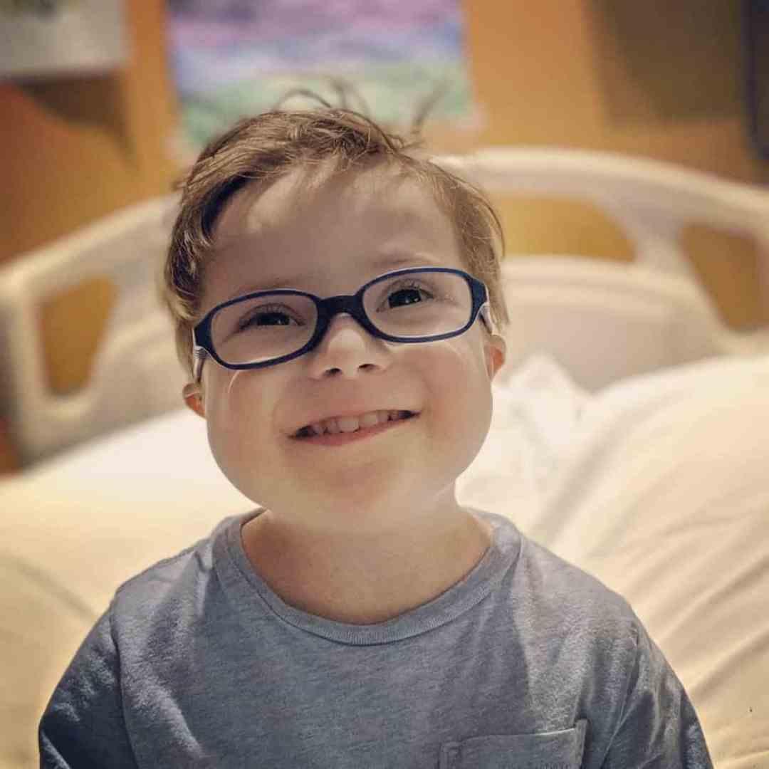 Smiling despite Acute Lymphoblastic Leukemia. He is warrior!