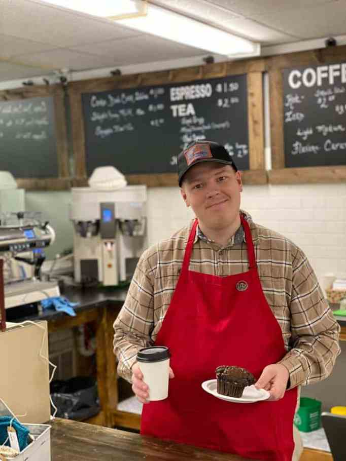 Man with autism opens coffee shop.