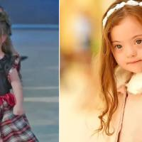 4-year-old girl with Down syndrome can't stop smiling as she walks in fashion show