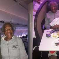 Kind stranger gives up first-class airline seat to make elderly woman's 'dream' come true