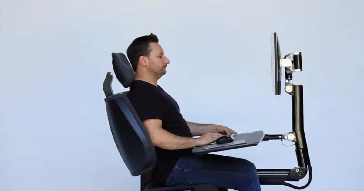 Check out this futuristic workstation that lets you recline and work horizontally - my positive outlooks