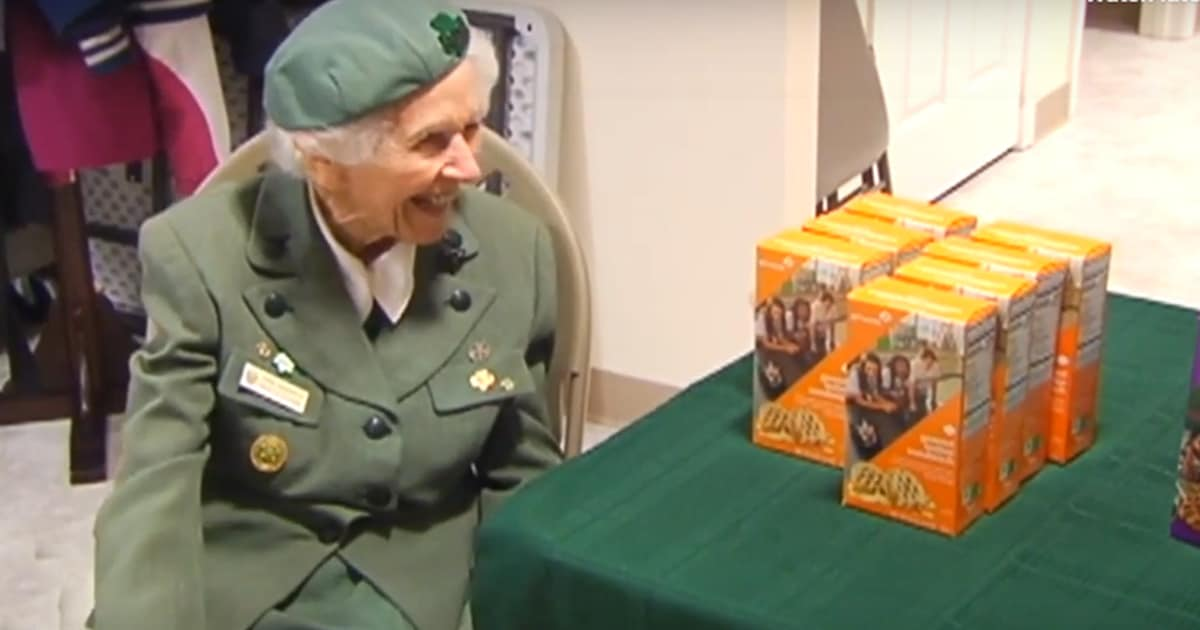 98-year-old Girl Scout has been selling cookies for 8 decades and has no plans of stopping - my positive outlooks