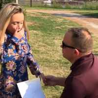 Man 'proposes' to her stepdaughter so she can be adopted, and her reaction was priceless