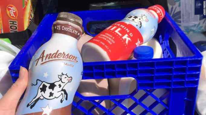 Pre med student receives donation of dairy products