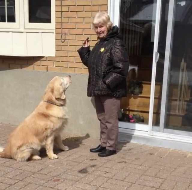 Cheddar visiting Jean after he's given up for adoption