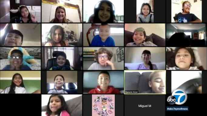 Education continues for these students through remote learning.