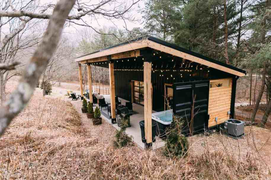 A shipping container home