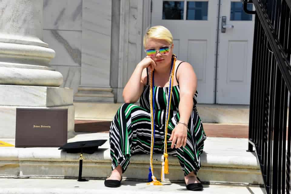 This student is first person with Down syndrome to graduate from her university with a bachelor's degree.