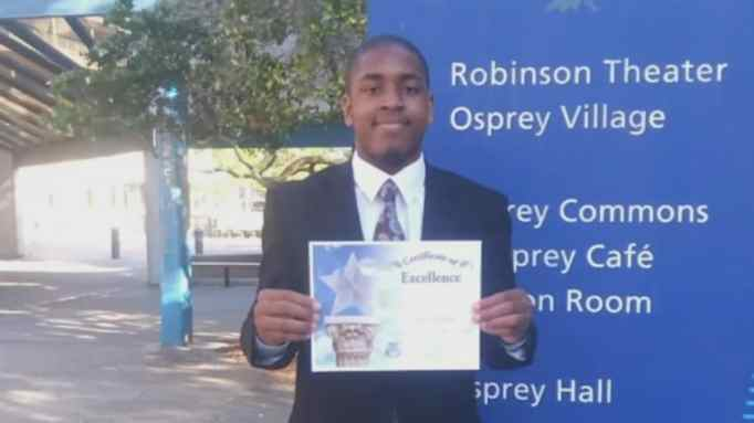 Formerly homeless teen beat the odds begins college at Valdosta State Univ.