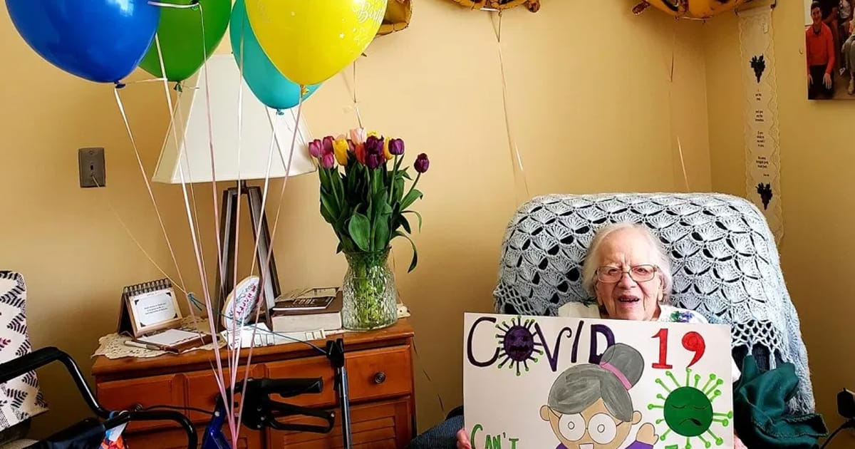 Grandma celebrated 100th birthday after beating Covid-19 and shared secret to long life - my positive outlooks