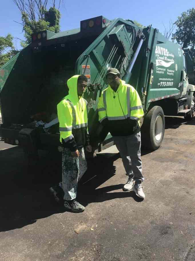 Working as a garbage collector to earn his law degree.