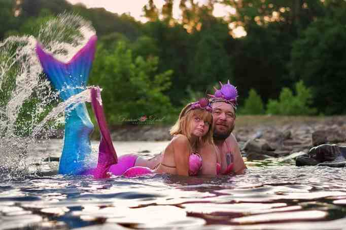 The mermaid session was so much better than just blowing birthday candles!
