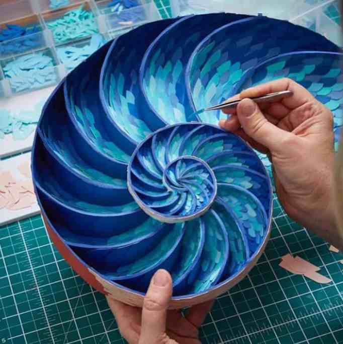 Intricate sculptures by an illustrator.