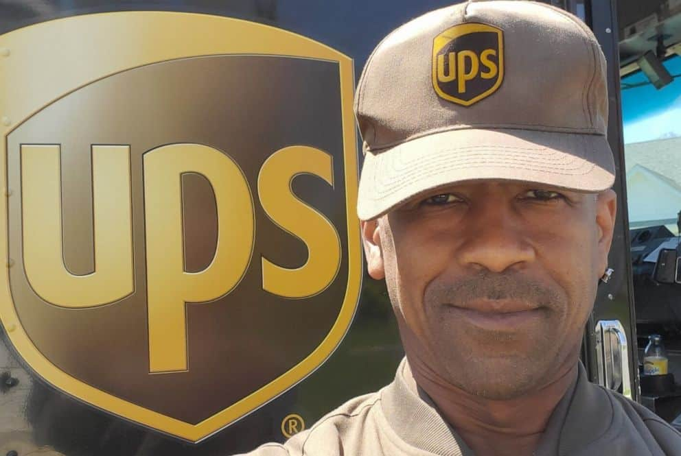 George Watkins, a UPS delivery package driver.