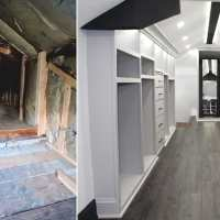 Man transforms unused attic into dream closet for his wife, the after photos go viral