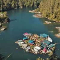 Couple has lived for 29 years on a hand-built island they call the Freedom Cove