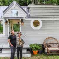 Couple designed and built their beautiful tiny home inspired by their previous normal size home