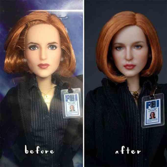 Repainted doll by Olga Kamenetskaya