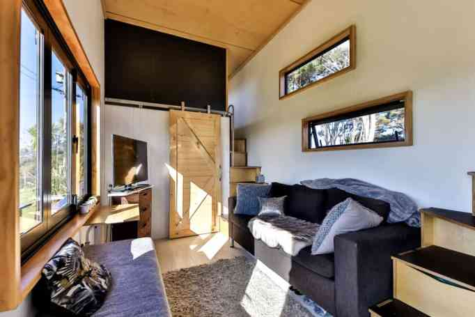 Epic modern all black tiny home