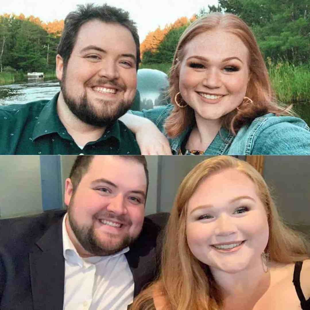 Couple's weight loss journey, before and after photos.