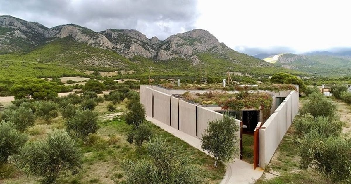 This one of a kind triangular home is a jaw-dropping sight amid an olive grove in Athens - my positive outlooks