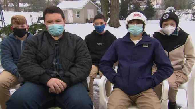 The five Middletown teenage boys who saved two kids from drowning in an icy pond