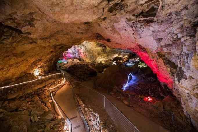 This unique restaurant lies 200 feet underground in Arizona.