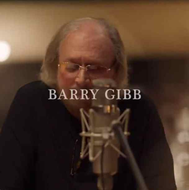 Barry Gibb recording Words