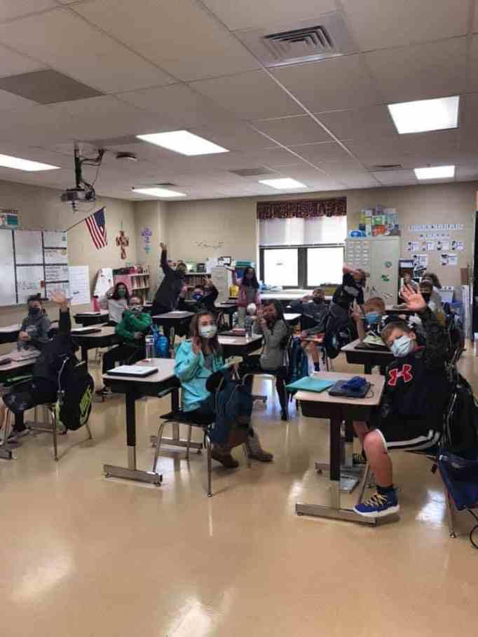 Fancy Farm Elementary School students